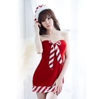 情趣内衣冬天冬季开档圣诞制服极度诱惑套装主播撩人包臀裙血滴子骚睡裙