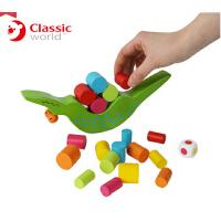 德国可来赛小孩3d大积木木制平衡鳄鱼 创意智力益智玩具3岁以上