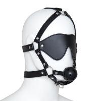 激情用具情趣情调眼罩口塞多功能情趣玩具马具形嘴塞口枷眼罩男女用夫妻调教主奴口球套装