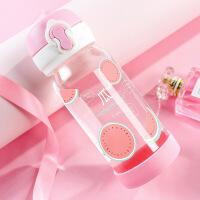 小清新玻璃杯创意潮流韩版女学生水杯便携韩国可爱简约水杯子