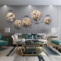 墙上装饰品挂件花草 创意餐厅墙面墙壁装饰挂件墙上立体圆形壁饰客厅挂饰植物花艺壁挂