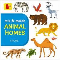 Mix and Match Animal Homes 混搭 动物之家 英文原版进口 儿童纸板趣味书 亲子早教互动游戏书 0-3岁低幼英语启蒙图书