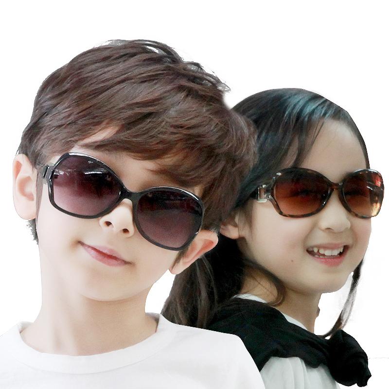 kocotree儿童太阳镜女宝宝眼镜正品儿童眼镜小孩眼镜儿童墨镜男童时尚潮流 防紫外线 个性舒适