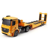 儿童男孩玩具汽车模型儿童遥控车工程车平板拖车索引车拖头运输车玩具
