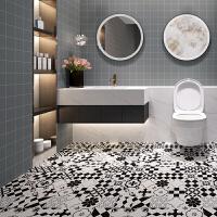 瓷砖贴纸 卫生间 加厚防水耐磨地板贴纸卫生间阳台防滑地贴厨房浴室淋浴房瓷砖贴膜 中