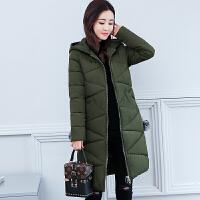 韩版棉衣女中长款修身棉袄显瘦加厚学生棉袄外套 3X