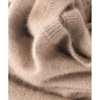 秋冬季男半高领纯色圆领套头羊绒衫加厚打底针织衫大码毛衣 驼色 圆领