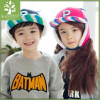 韩国KK树儿童帽子宝宝秋冬季男童女童鸭舌帽2-4-8岁小孩童帽冬天