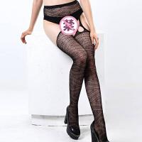 性感透明丝袜网袜连体袜开档情趣内衣高腰吊袜制服诱惑sm角色扮演用品 均码