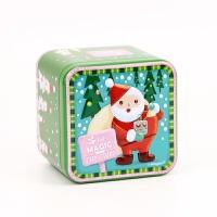 圣诞浮雕小方盒圣诞节礼盒包装盒立体创意糖果盒饼干烘焙铁盒收纳1 7.5*7.5*6.5