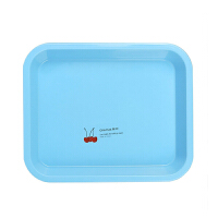 托盘长方形家用大号小水杯杯子欧式放餐具水果茶杯盘塑料茶盘
