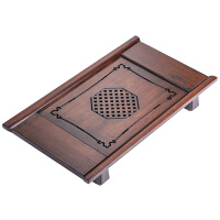 禅意竹制小茶盘长方形沥水茶家用客厅简约功夫茶台储水式干泡盘