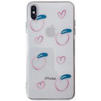 透明桃子8plus苹果x手机壳XS Max/XR/iPhoneX/7p/6女情侣iphone11Pro/Max新款创意保