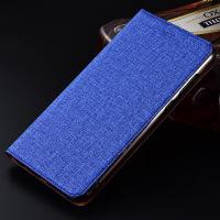三星Note 8手机壳Note5全包皮套n9100保护套防摔Note4手机套棉麻 三星Note 5 棉麻蓝色【翻盖】