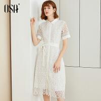 【2.5折到手价:111.3】⑩OSA欧莎2019夏装新款女装 时尚连衣裙