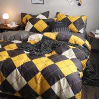 北欧四件套全棉纯棉100床上用品三件套被子ins风4简约被套床单夏