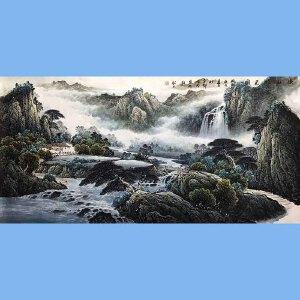 中国山水画研究院学士,江西省美协会员,国家一级美术师张吉茂(山水)56