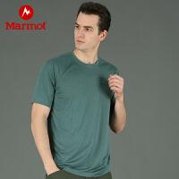 【土拨鼠超级品牌日】Marmot/土拨鼠户外运动男士舒适透气轻薄短袖袖速干T恤