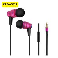 【正品包邮】Awei/用维 ES-800i入耳式面条线控带麦重低音三星耳机