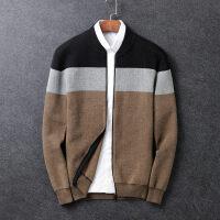 毛衣男韩版修身潮流个性秋季拉链针织衫男士针织开衫外套毛线衣男