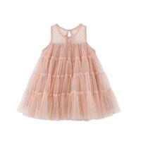 婴童装儿童公主裙女童夏季蓬蓬纱波点裙子1-3岁宝宝连衣裙