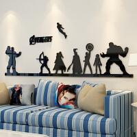 复仇者联盟主题墙贴海报漫威3d立体贴画卧室男孩宿舍墙面贴纸房间 2343灭霸-黑色