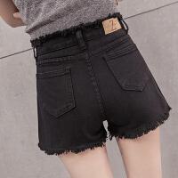 牛仔短裤女韩版夏季新款高腰黑色网红宽松百搭显瘦学生热裤潮