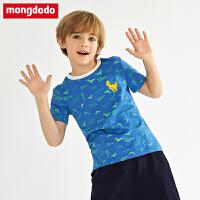 巴拉巴拉balabala巴拉巴拉旗下宝宝打底衫男童短袖2019新款中大童宝宝纯棉t恤上衣