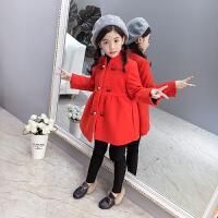 2018新款儿童呢子外套韩版中长款毛呢大衣女孩加厚秋冬装