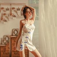 情趣内衣旗袍透视骚小胸性感紧身挑逗制服血滴子诱惑激情套装