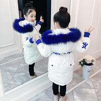儿童棉衣2018新款童装洋气冬装儿童中长款加厚大毛领女孩棉袄