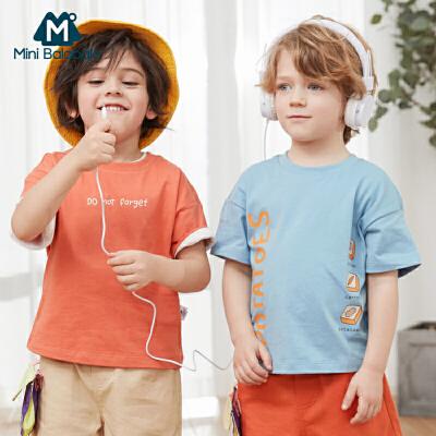 【99元任选3件:33元】迷你巴拉巴拉男童T恤短袖纯棉2020年夏装打底衫宝宝满印儿童上衣