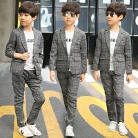 童装男童春装套装2018新款中大童儿童春秋款休闲西装两件套韩版潮