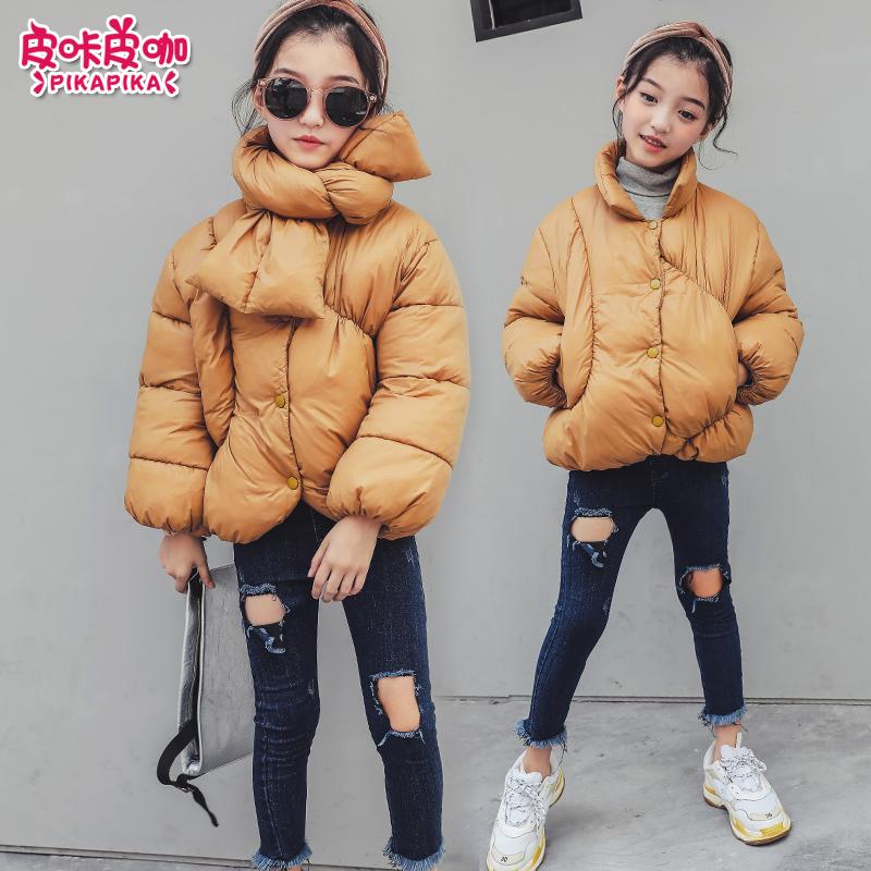 2018新款韩版儿童棉衣袄冬季外套女孩加厚短款棉服潮