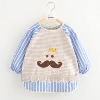 儿童罩衣护男童宝宝1-3-4--6-7岁长袖防水反穿衣半孩子带男孩 100(16码 ) 建议2-3岁