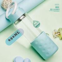 玻璃杯男女提手便携单层大容量玻璃水杯子防烫耐热滤叶花茶杯