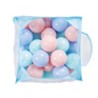 海洋球 7cm加厚婴幼儿童游戏帐篷宝宝玩具彩色波波球 直径7cm 三色球200只(送2个筐)