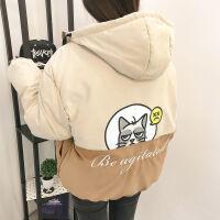 冬季女装韩版原宿学院风宽松面包服棉衣bf短款学生加厚外套潮