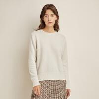 网易严选 100%山羊绒,女式加厚保暖圆领毛衫