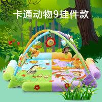 六一儿童节礼物宝宝床铃健身架新生婴儿音乐游戏毯健身架0-1岁爬行玩具3-12个月宝宝用品