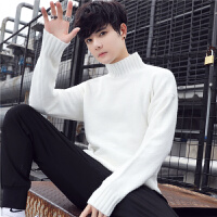 秋冬季新款男装毛衣男士针织衫打底衫半高领线衣外套潮流韩版套头