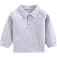 2018新款春季儿童polo衫长袖T恤中小童T恤翻领上衣男孩女孩