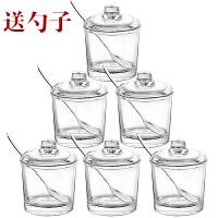 厨房用品玻璃调料盒盐罐调味罐佐料瓶鸡精调味盒家用收纳套装组合