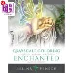 【中商海外直订】Enchanted Magical Forests - Grayscale Coloring Edit