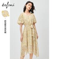 伊芙丽连衣裙夏季夏天泡泡袖显瘦小心机长款小雏菊裙子