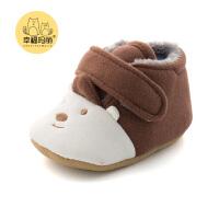 宝宝棉鞋秋冬0-6个月婴儿软底步前鞋2018