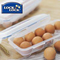 乐扣乐扣鸡蛋盒子鸡蛋托冰箱储物盒保鲜防破碎防震野餐收纳盒子