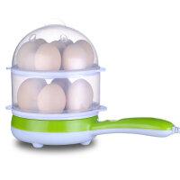 富贵熊 多功能双层煮蛋器蒸蛋器煎蛋器迷你电煎锅不粘锅煎蛋器煮1-14个蛋