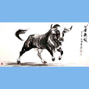 笔名道鸿,中国国粹画院理事,河南省美术家协会会员,当代画马研究会会员孙振伟(仁者无敌)
