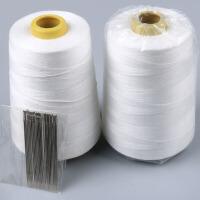 缝纫线粗家用手工缝被子针线套装白色粗线手缝针涤纶缝衣线棉被缝纫线p 大卷加强缝被线